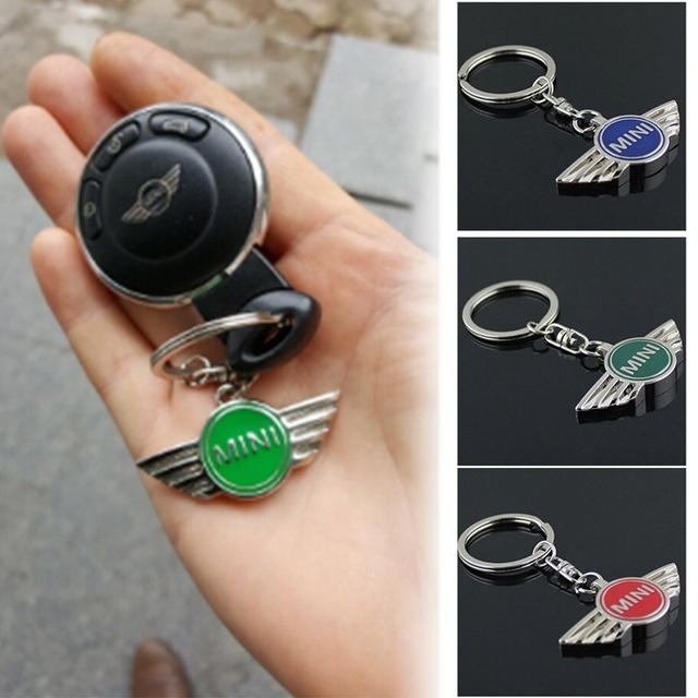 Car Pendant Alloy Car Keyring Keychain Key Chain Auto Key Ring Holder For Mini Cooper Countryman Car Jcw Clubman r50 r53 r56