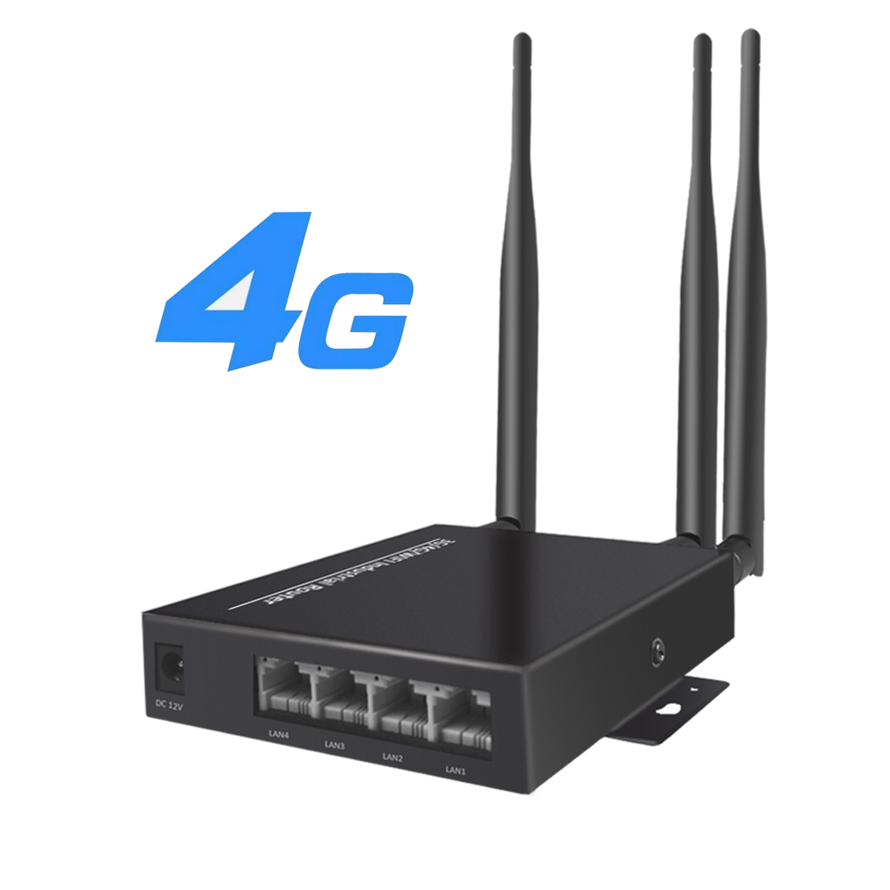 Unlocked 3G 4G WIFI Router with 3pcs 5dbi Antennas 4G Industry Wireless Router for AHD Camera