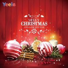 Yeele Christmas Party Photocall Decor Balls Fruit Photography Backdrops Personalized Photographic Backgrounds For Photo Studio