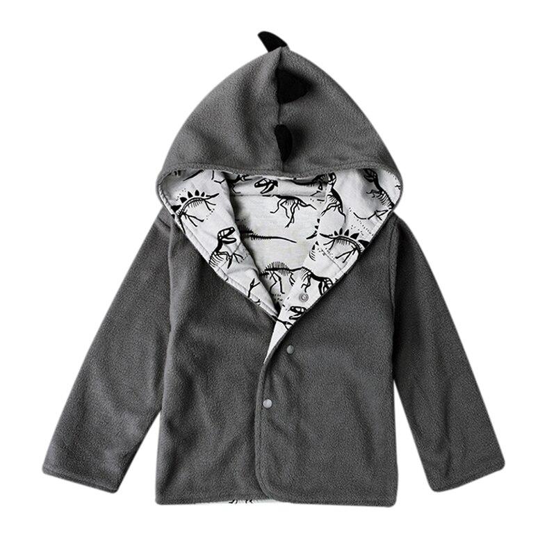 Для маленьких мальчиков пальто с капюшоном Детская куртка теплая верхняя одежда динозавр зима-осень манто Толстовка с длинным рукавом Кост...