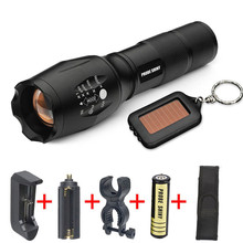 5000lm XM-L LED G700 X800 Tactical Flashlight Military Key chain Outdoor Sport Bike Bicycle Accessories Top Quality May 11