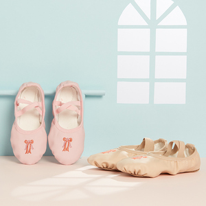 Image 3 - Dance shoes Girls Ballet Shoes for Girls Kids Children High Quality Girls Dance Shoes Dance Slipper Leather Sole Ballerina Shoes