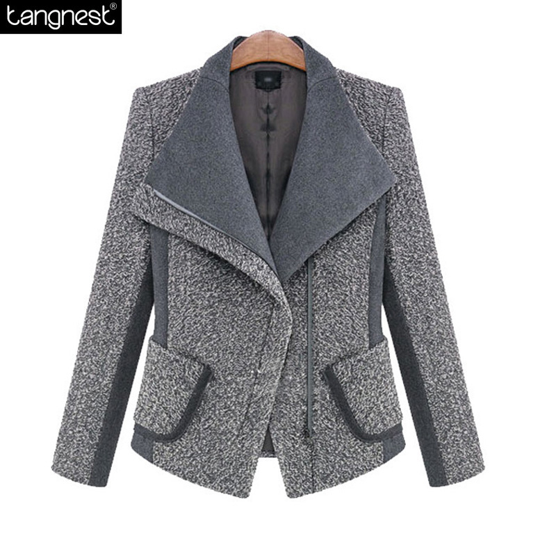 TANGNEST Woolen Blazer Pea Coat 2017 Fashion Women Slim Fit Wool Blends  Jacket Office Lady Style - Compare Prices On Pea Coats Style- Online Shopping/Buy Low Price
