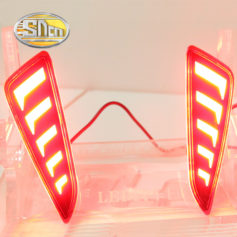 For Toyota C-HR CHR 2016 2017 SNCN Multi-functions Car Tail Light LED Rear Fog Lamp Bumper Light Auto Bulb Brake Light Reflector new for toyota altis corolla 2014 led rear bumper light brake light reflector novel design top quality fast shipping
