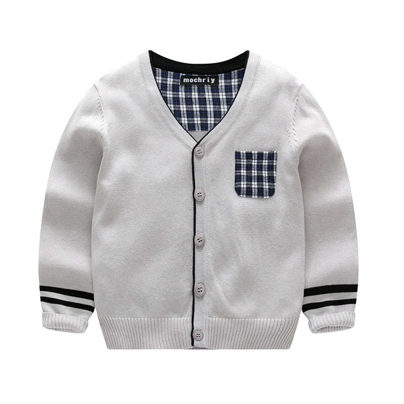 2018 Boys Cardigans Male Child Shirt Kids V-neck Long-sleeve Cardigan Jackets 5 Colors Children Outerwear Sweaters 3-8T CC786 mens v neck button up cardigan