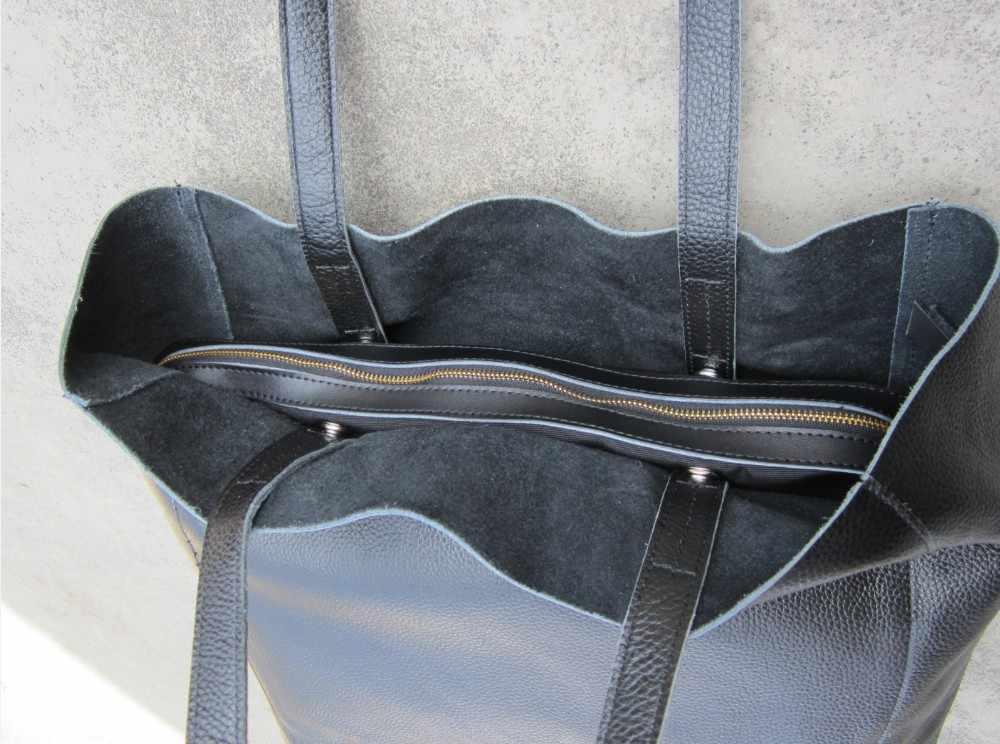 Eumoan hretro artesanal original grande capacidade primeira camada saco de compras do couro bolsa ombro bolsas de couro grande saco st