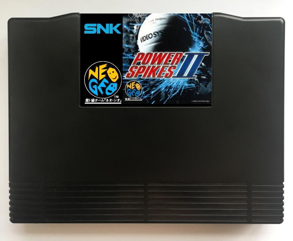 NEOGEO AES Power Spikes 2(MVS Conversion) Game Cartridge for SNK NEO GEO AES Console