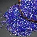 Venta caliente 2000 unids Jalea Negro AB Magia del Color 2mm 3mm Los Rhinestones del hotfix no Rhinestone de la resina Del Arte Del Clavo del Palillo Del Teléfono Uso pegamento