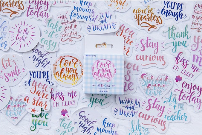 Colorful Mood Diy Decorative Sticker(1pack=46pieces)