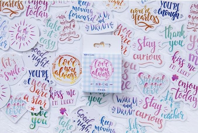 Colorful Mood Diy Decorative Sticker(1pack=46pieces)
