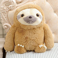 Hot 40cm 50cm Cute Simulation Sloth Animal Toy The Baby Doll Lifelike Sloth Plush Toy Stuffed Kids Girl Lovely Best Holiday Gift