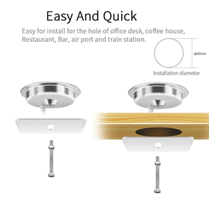 Image 2 - Desktop bedside table furniture desk bar mount 10W QI Wireless Charger for Samsung IPhone Smart Phone Fast Charging QI Universal