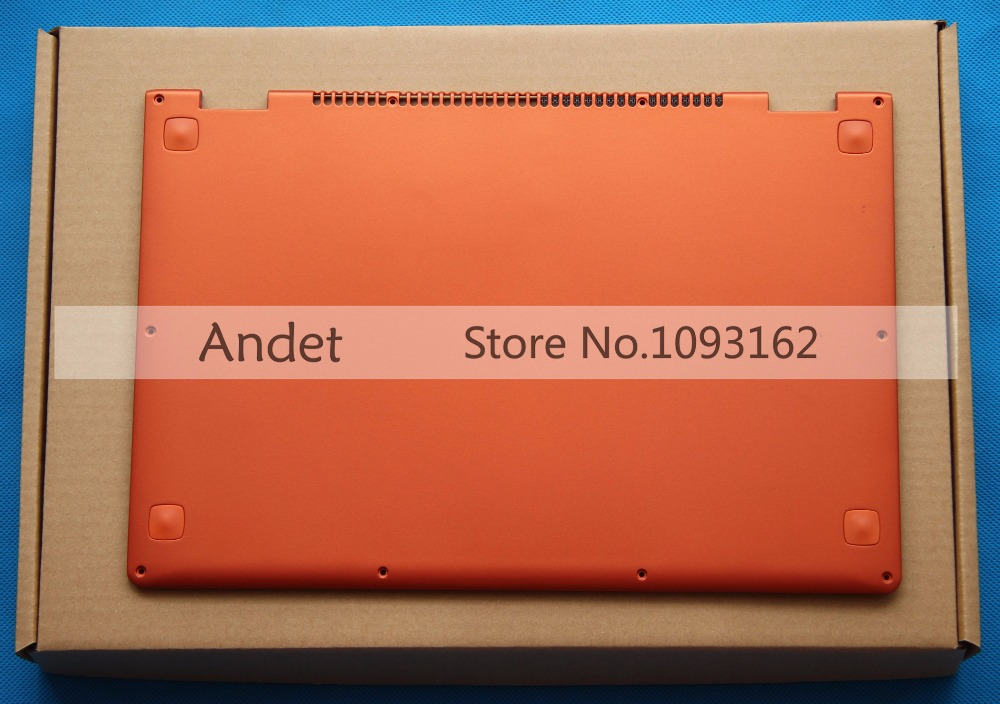 New Original Lenovo Yoga 13 Base Bottom Cover Orange Lower Case with Speaker L+R Wireless Antenna 11S30500246 new original for lenovo thinkpad yoga 260 bottom base cover lower case black 00ht414 01ax900