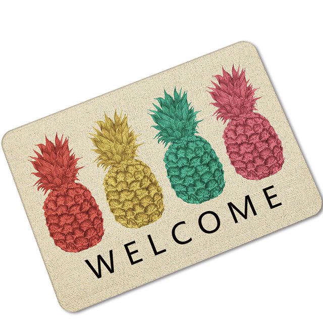 Welkom Vruchten Afdrukken Ananas Rubberen Vloermat Water Uptake ...