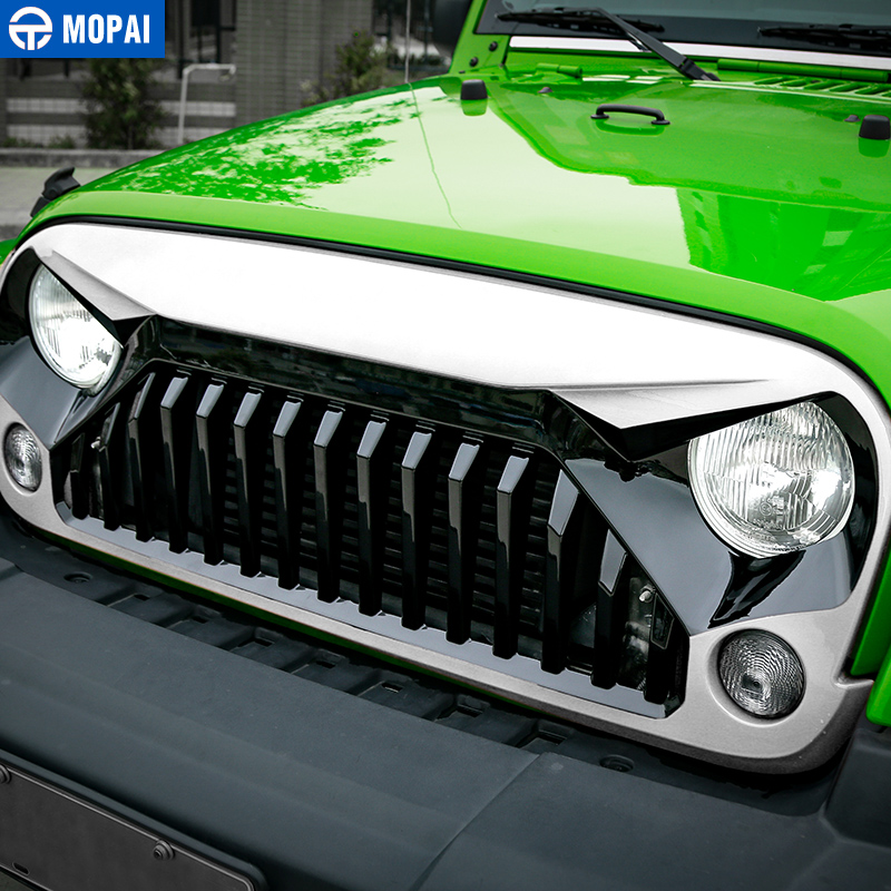 Jeep Wrangler Accessories 2017 >> Mopai Car Racing Grilles For Jeep Wrangler Jk 2007 2017 Front Grille Mesh Cover Decoration For Jeep Jk Wrangler Accessories