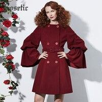 Roseticโกธิคเสื้อวินเทจผู้หญิงฤดูใบไม้ร่วงR Ufflesลำลองเสื้อคลุมท่อแฟชั่นย้อนยุคหรูหรา