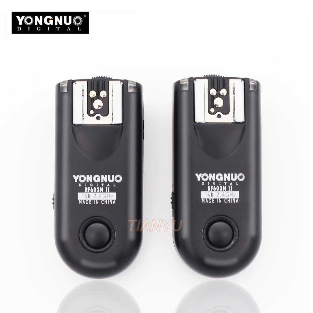купить YONGNUO RF-603II N3 RF603II RF 603N3 II Wireless Flash Trigger 2 Transceivers for NIKON D600 D90 D5000 D5100 D3100 D7000 Newest по цене 2651.9 рублей