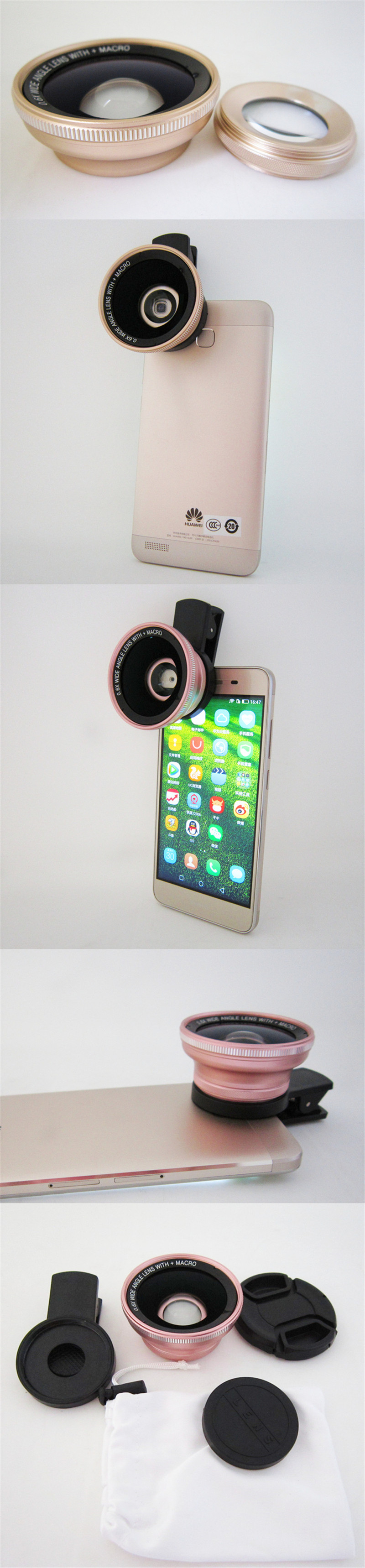 DR-fish 0.6X Wide Angle Phone Lens 15 Macro lenses For iPhone 7 6S Plus HD Clip 37mm For Smartphone Cell phone camera Lens 2