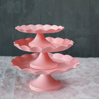 Pink Cake Stand Cupcake Tray Metal Iron Tools For Cake Waterproof Dessert Plate Bake Tool Candy