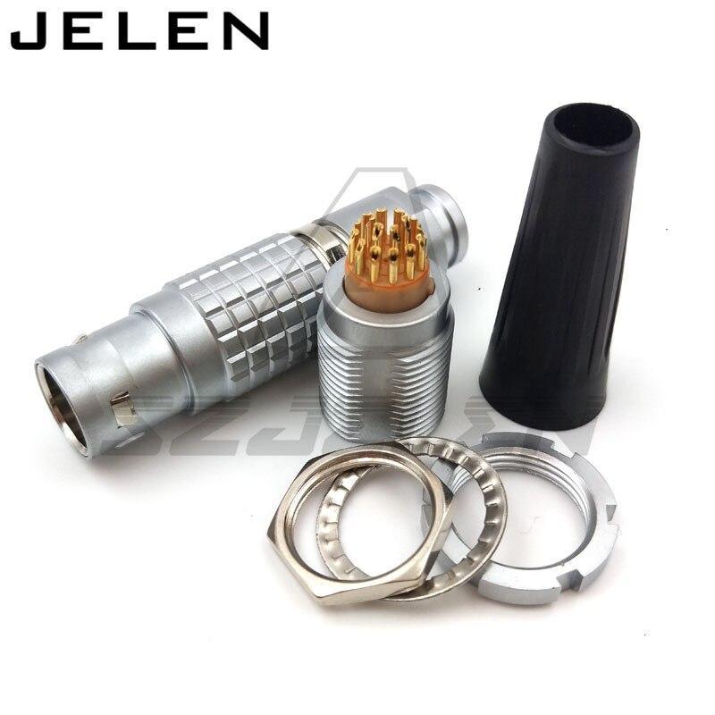 Compatible LEMO 2B series 18 pins connector, FGG.2B.318.CLAD ,ECG.2B.318.CLL, Car connector, power cable connector