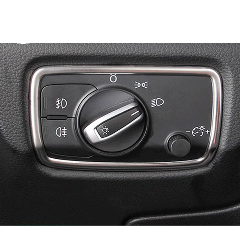 Car Styling For <font><b>Audi</b></font> <font><b>A3</b></font> <font><b>8V</b></font> <font><b>Sedan</b></font> Hatchback Sportback 2013 2016 Car Headlight Switch Decoration Sticker Frame Cover image