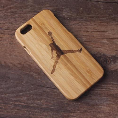 iPhone 6 6S Plus Unique Wooden Case Air Jordan Bamboo Wood Protector Cover
