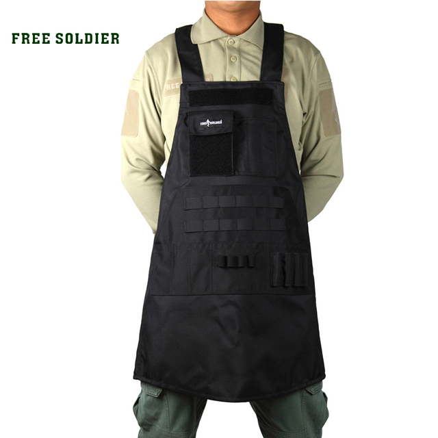 FREE SOLDIER outdoor camping hiking tactical apron 900D Nylon aprons military camouflage repair waterproof apron