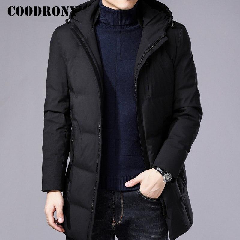 COODRONY Winter Jacket Men Thick Warm Hooded   Parka   Men 2018 New Arrival Winter Coat Men Brand Casual Long Jackets And Coats 8821