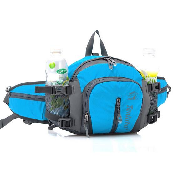 blue waist bag