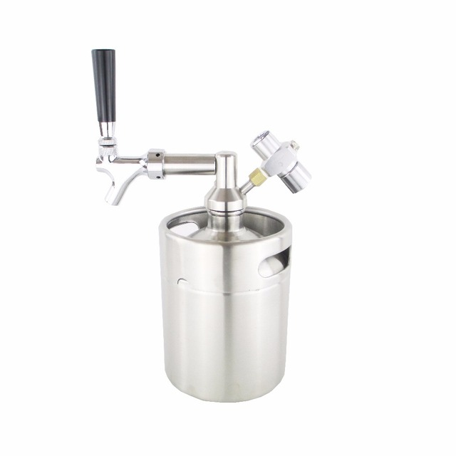 New 2L mini growler spears Beer Spear with Tap Faucet with CO2 ...