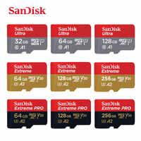 SanDisk Micro SD Card 16GB 32GB MicroSDHC Scheda di Memoria 64GB 128GB 256GB MicroSDXC EXTREME PRO v30 U3 4K UHD Carte di TF