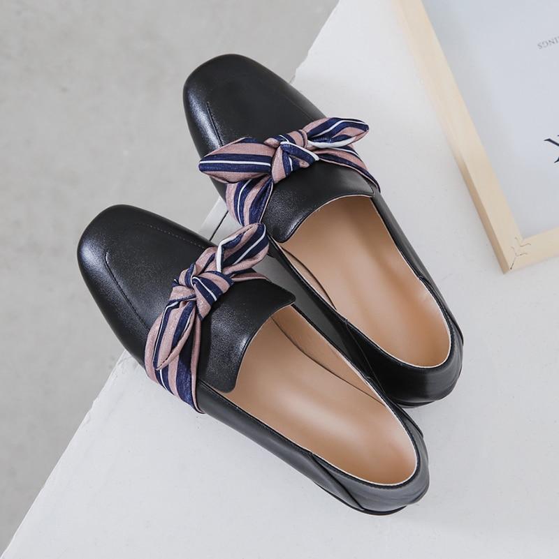 De Slip Planos On Cuero Nuevo negro Arco Mujeres Beige Cómodo Cm Las Mocasines 3 Zapatos 2019 vxPEqYfnw