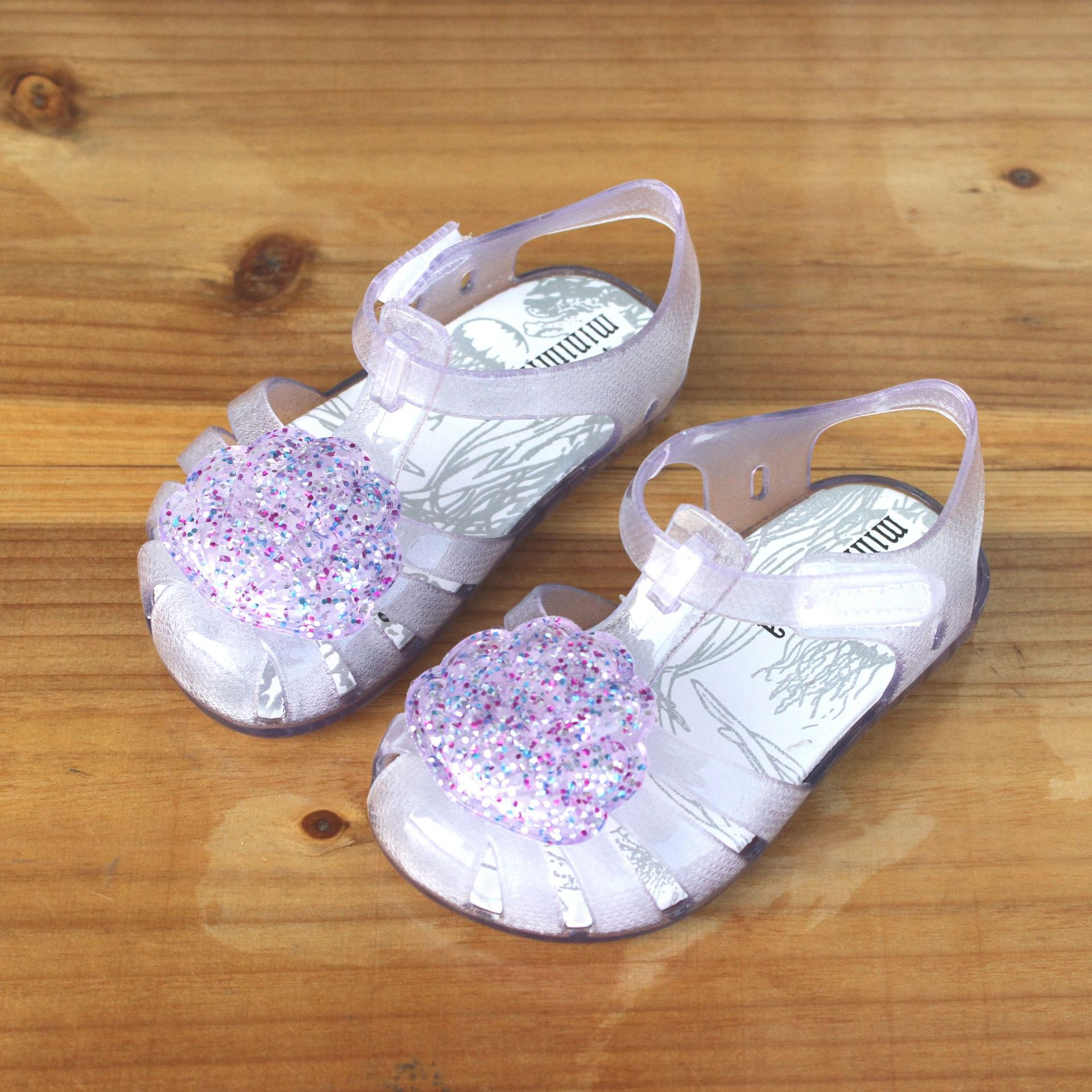 2019 New Arrival Kids Mini Jelly Sandals For Baby Girls Cute Shell Children Summer Beach Shoes Infantil Sandalia  PVC Baotou