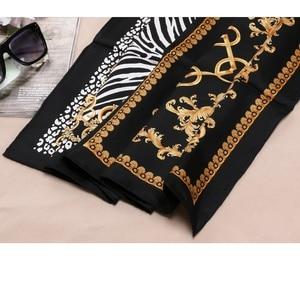 Image 5 - Fashion Prints 100% Silk Scarf Shawl Womens High Quality Hijab Head Scarves 88X88CM