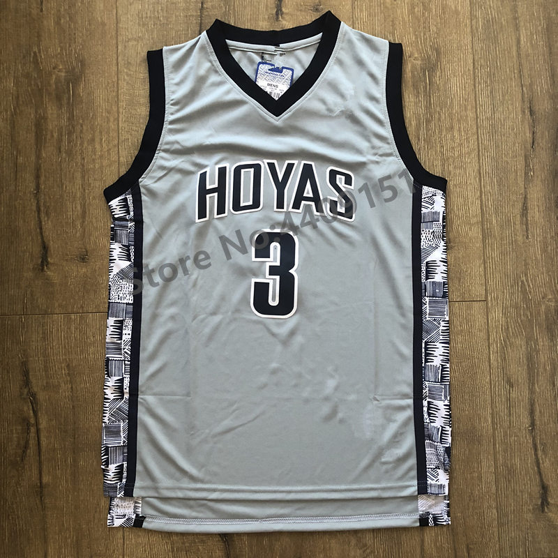 d803e416349 ... reduced allen iverson 3 georgetown hoyas throwback college jersey gray  blue stiched s xxl in basketb
