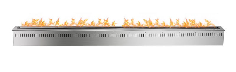 72 Inch Intellgent Silver And Black Wifi  Bioethanol In Wall Fireplace