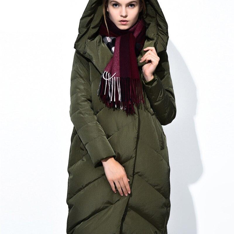 Hooded 2017 Ladies Long Winter Coat Cloak Women Ultra Plus Green Size Duck Elegant Jacket Womens Parka Puffer Coats Down Jackets gas norton k