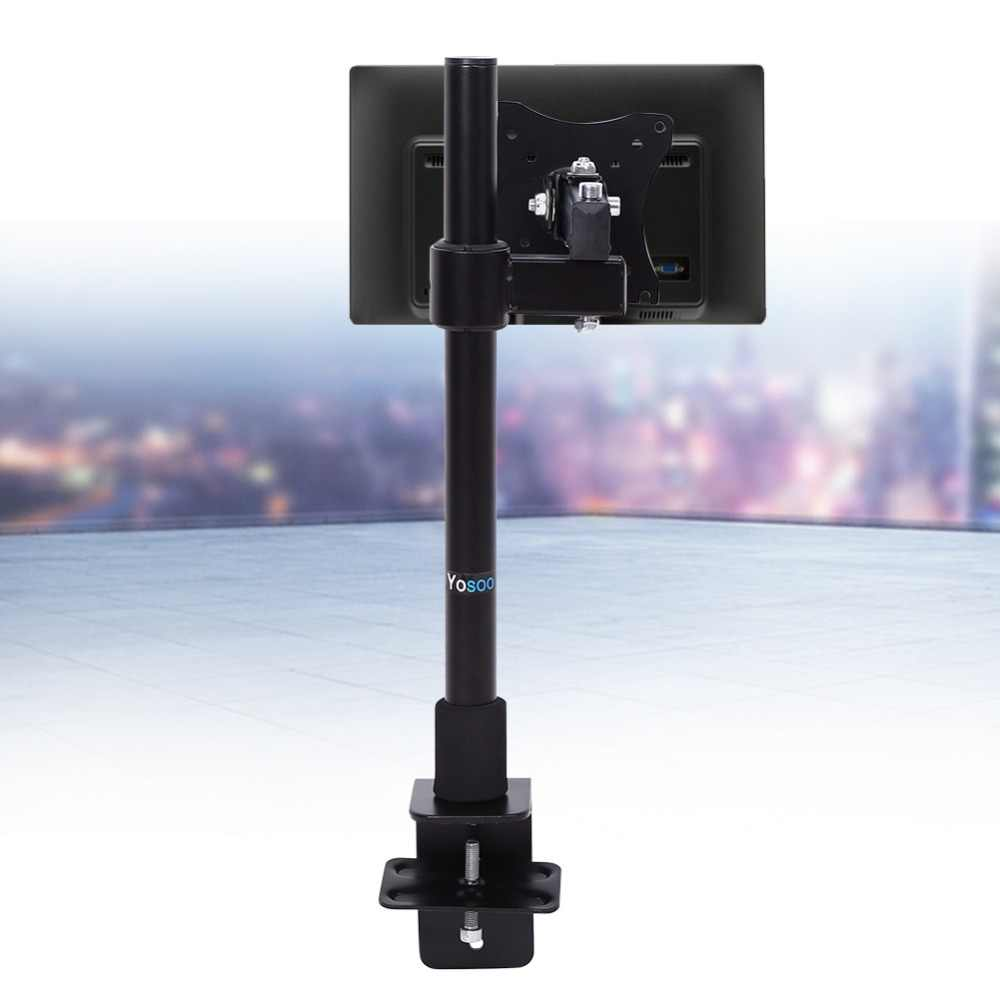 13-27 Inch Single ARM Monitor Meja Mount Komputer Layar TV Bracket Stand Max Loading 5Kg/11 lbs 360 Derajat Pemegang
