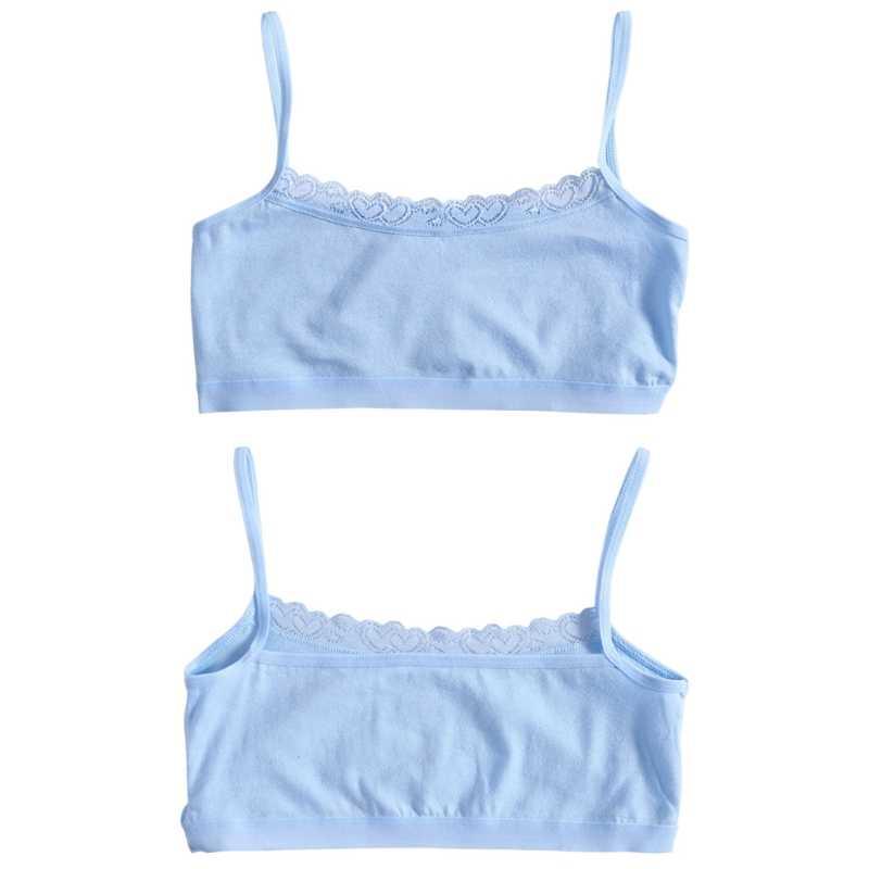 צעיר בנות תחרה חזיית התבגרות בגיל ההתבגרות רך כותנה אימוני תחתוני חזיית בגדים