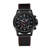 Men Top Brand Luxury Men Watches Men Waterproof & Chronograph Leather Band Quartz Wrist Wristwatch Military Male Clock