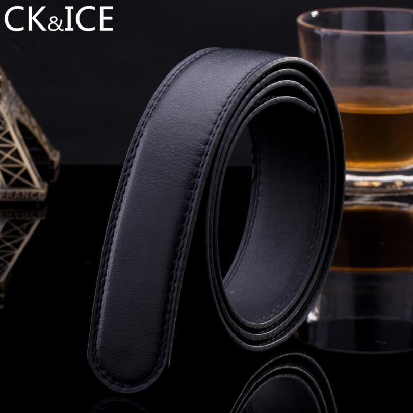 CK&ICE 3.3cm Men Classic Belt No Buckle Body Genuine leather Belts For Men Suitable For Automatic Buckle Cinto Masculino Straps
