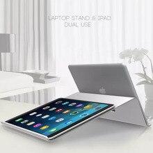 Хорошее Двойного назначения Алюминий ноутбук Регулируемая подставка Тетрадь держатель стол док планшет кронштейн ОХЛАДИТЕЛЬ охлаждающая подставка для MacBook для Ipad Air