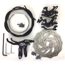 Catazer general mountain bike bicycle brake set mechanical line pulling disc brake with front Cliper rear Cliper 160mm cable set цена