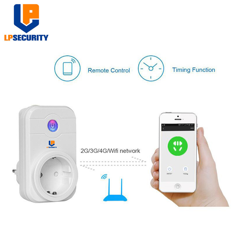 LPSECURITY Smart Plug, Alexa Socket Wifi Socket Work With Alexa, Remote Controled EU US UK AU Plug Available