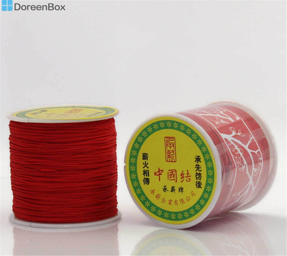 Doreen Box Lovely Terylene Cord Chinese Knot Red 1mm Dia,1 Roll(90M/Roll) (B22527)