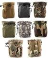 Mais novo Grande Capacidade de Cintura Molle Tático Militar Airsoft Paintball Caça Folding Bag Recuperação Dump Pouch Pacote de Telefone Saco