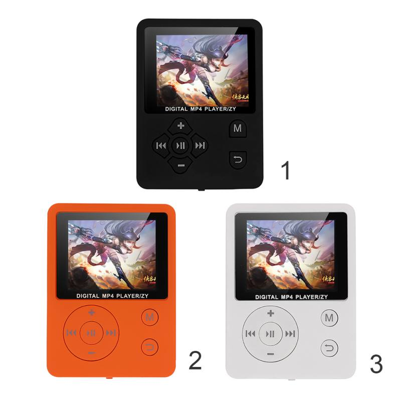 1.8 Inch Color Screen Ultrathin MP3 Player Support 32G TF Card 13 Languages Portable MP3 HiFi Music Player FM E-book Walkman