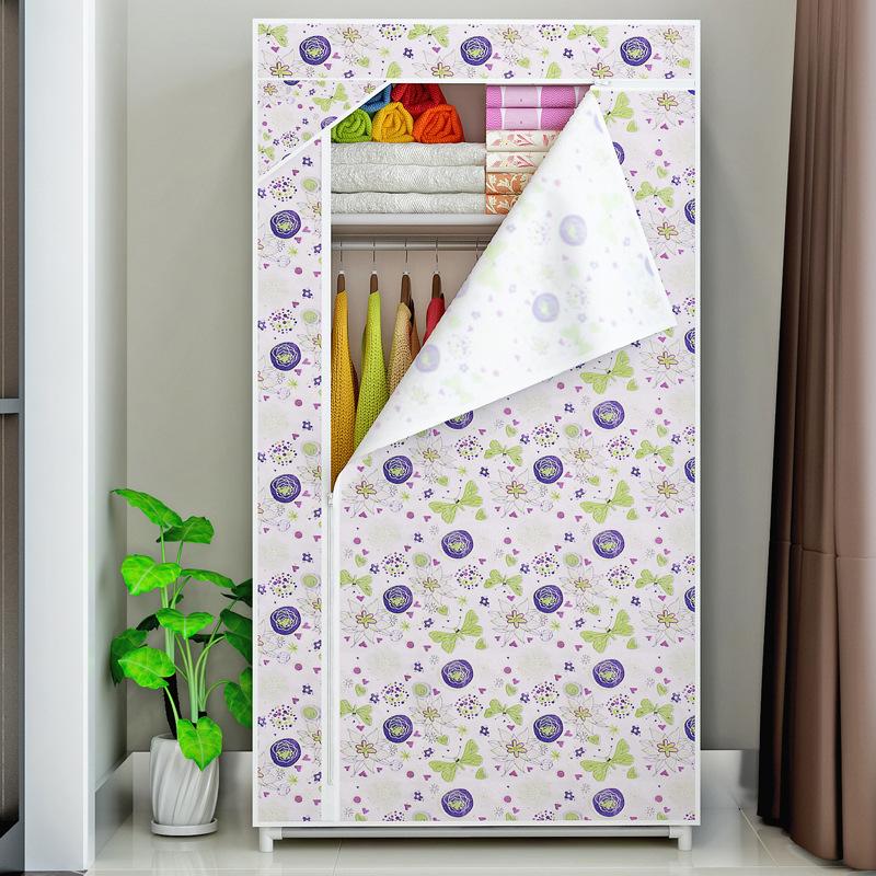 Cloth Wardrobe Lockers Moisture Proof Simple Wardrobe Cloth Foldable Portable Flower