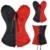 Hit Fashion Color Negro Rojo Corset Lace Up Cintura Trainer Overbusr Corsé Bustier Brocade Cremallera Superior Más El Tamaño de Corsé TYQ