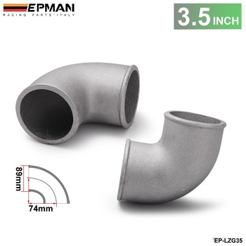 89mm 3.5 Cast Aluminium Elbow Pipe 90 Degree Intercooler Turbo Tight Bend For BMW E36 M3/325i/ is/ iX M50 92-99 EP-LZG35 image